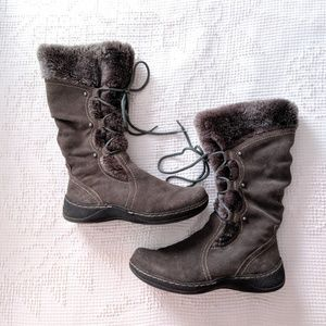BareTraps Elicia Lace Up Tall Winter Boots Sz 8.5